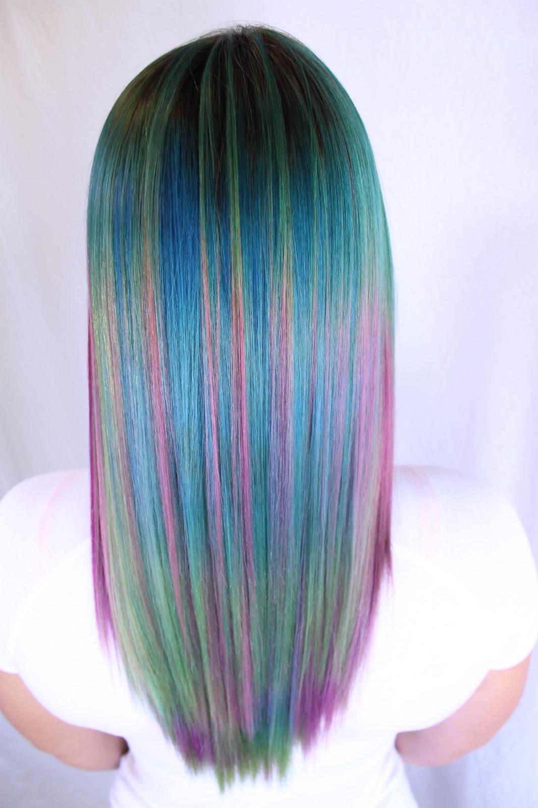 Rainbow Hair | AK Lounge Best Salon San Antonio
